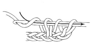 Как связать полустолбик с накидом