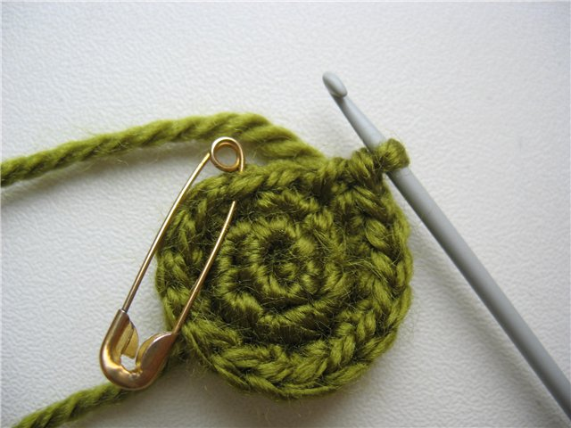 Схема смены цвета нити при вязании амигуруми