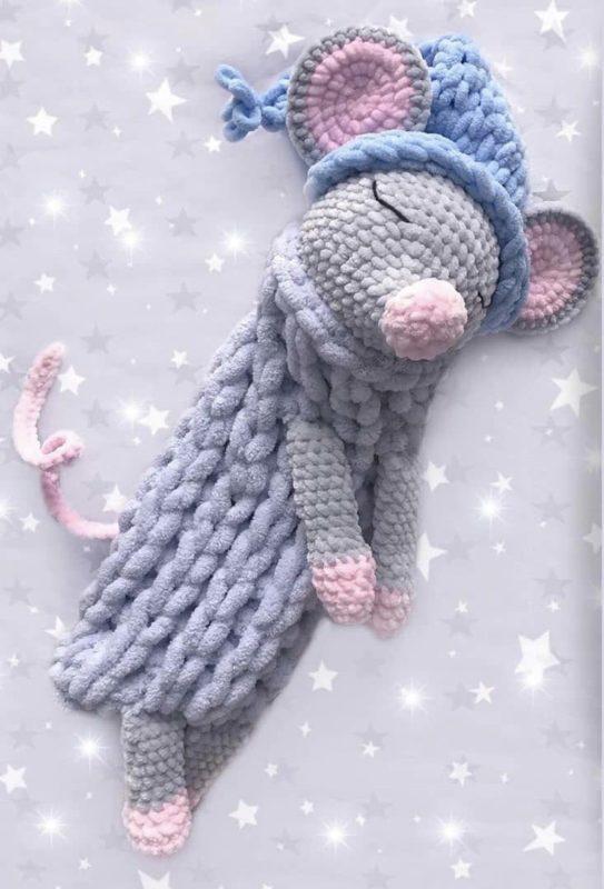 Мышка пижамница крючком