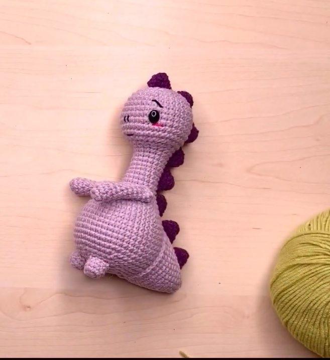 Видео МК вязания динозавра крючком: амигуруми для начинающих