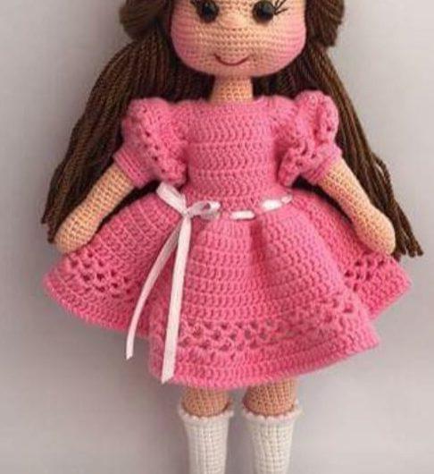 Кукла амигуруми крючком с описанием схемы