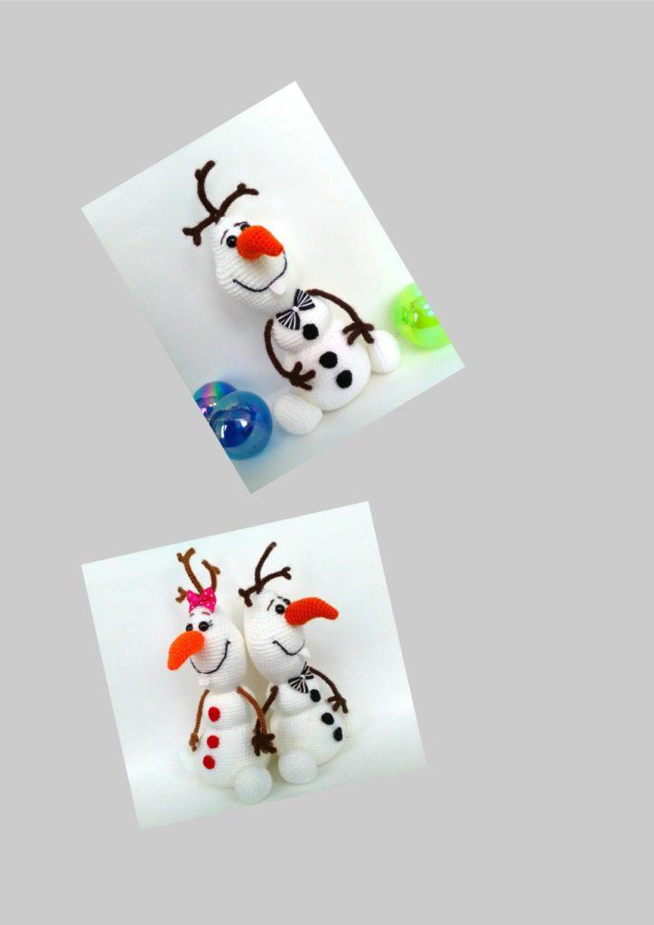 Снеговик Олаф крючком