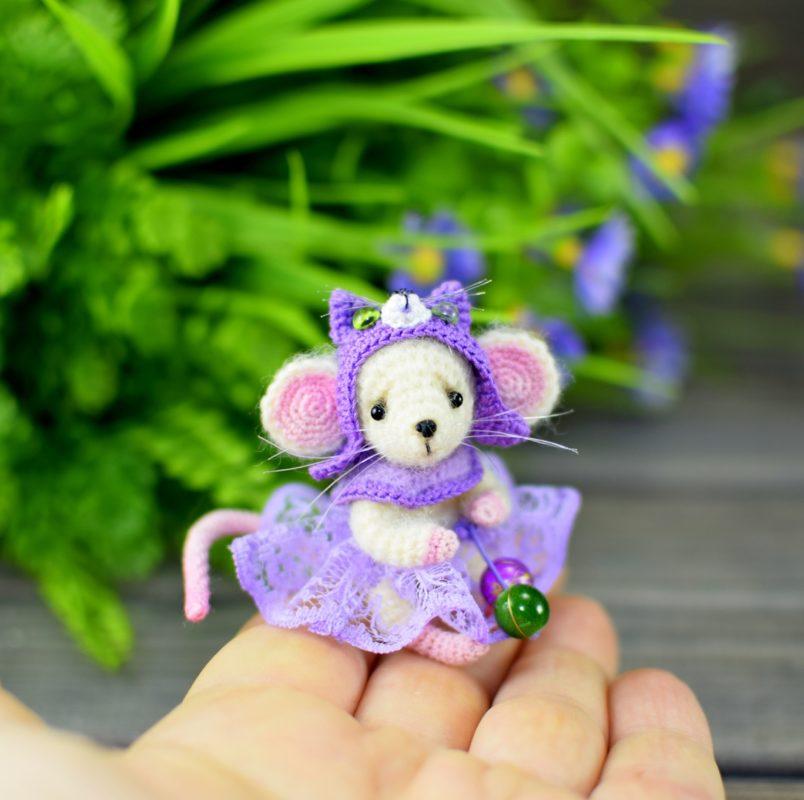 Схема вязания маленького мышонка