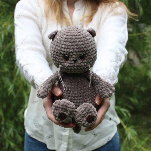 Вязание игрушек крючком кот Басик