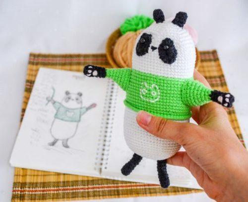Панда: схема вязания крючком