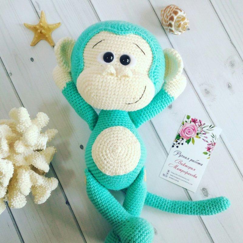 Амигуруми обезьянка