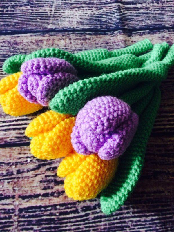 Амигуруми цветы крючком