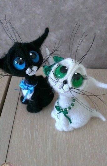 Котёнок амигуруми крючком