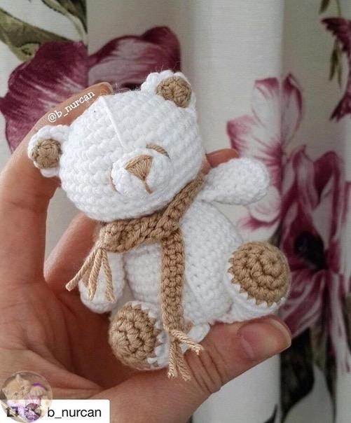 Игрушки амигуруми для начинающих: схема вязания медведя