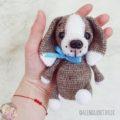 Маленький щенок амигуруми: бесплатная схема вязания крючком