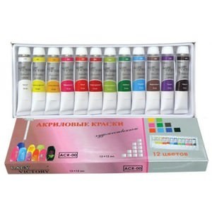 Тонирование акриловыми красками