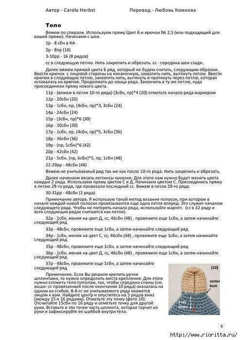 Куклы амигуруми схемы тело