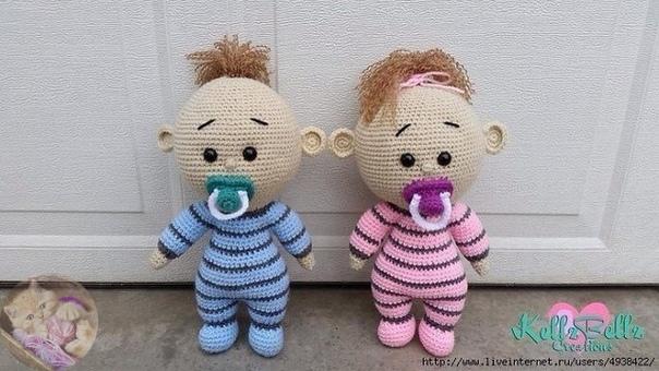 Амигуруми куклы схемы вязания крючком: схема вязания пупса