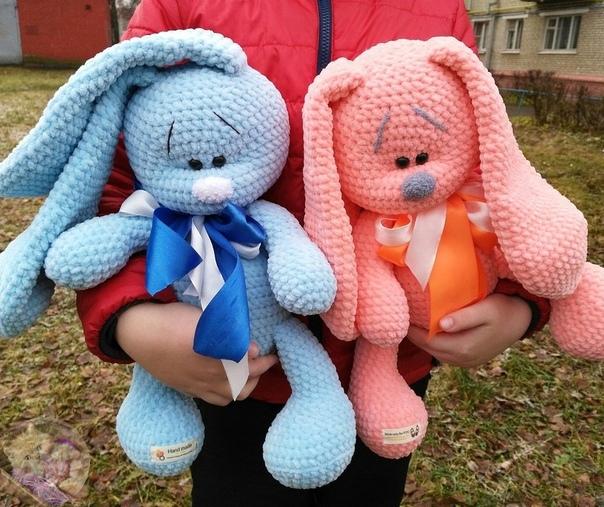 Амигуруми заяц из плюша