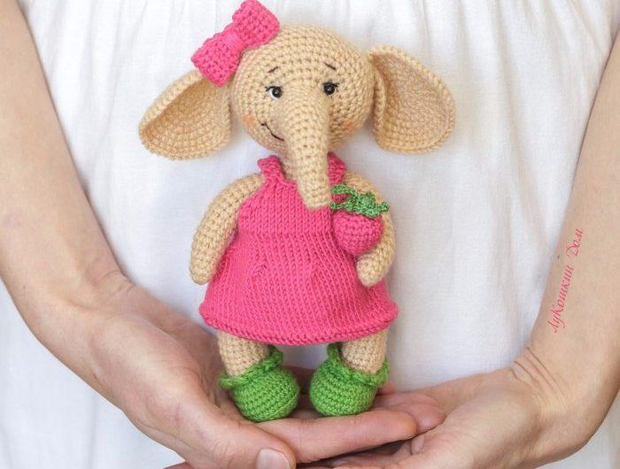 Схема вязания слона