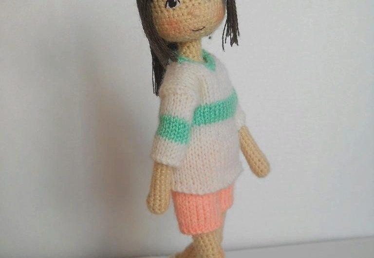 Кукла Тихиро крючком: МК по вязанию