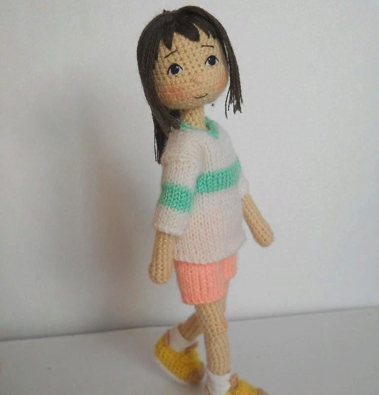 Кукла Тихиро крючком с пошаговым описанием схемы