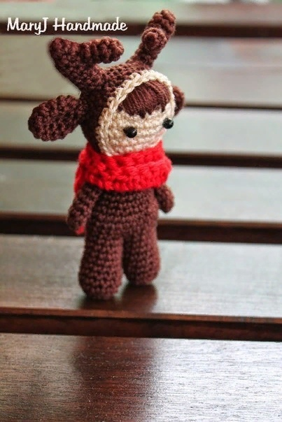 Схема вязания амигуруми маленькой куклы