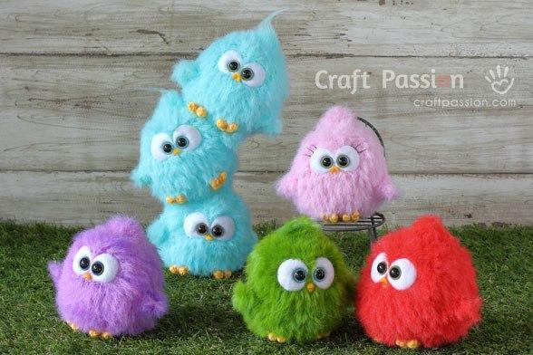 Вязание игрушек амигуруми схема вязания птичек