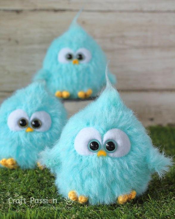 Вязаные птички