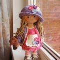 Большая кукла крючком подробная схема вязания