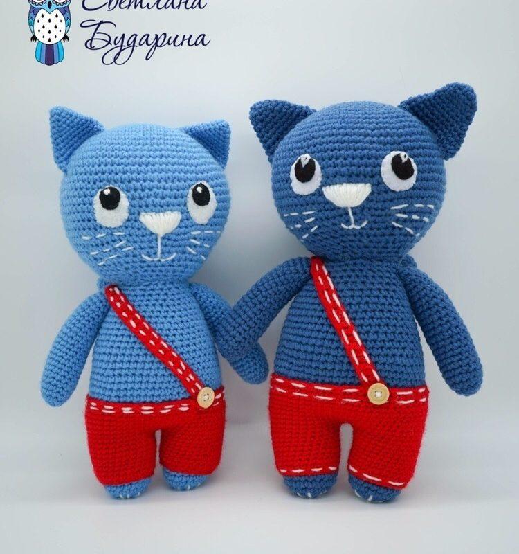 Амигуруми синий кот крючком схема с описанием