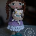 Красивая вязаная кукла крючком с описанием схемы