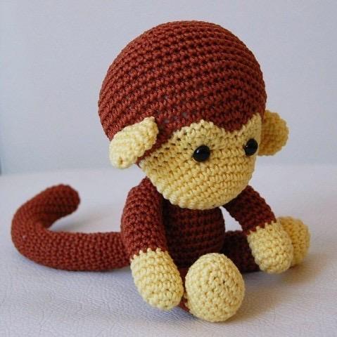 Вяжем обезьянку крючком: простая схема вязания
