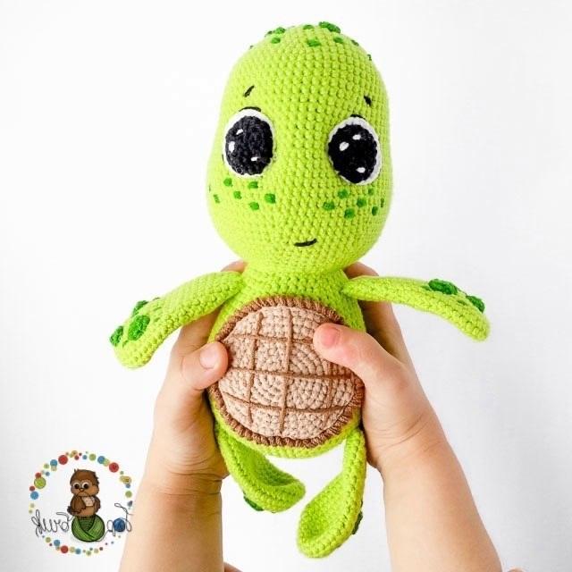 Бесплатная схема вязания черепахи крючком с описанием - Умелки