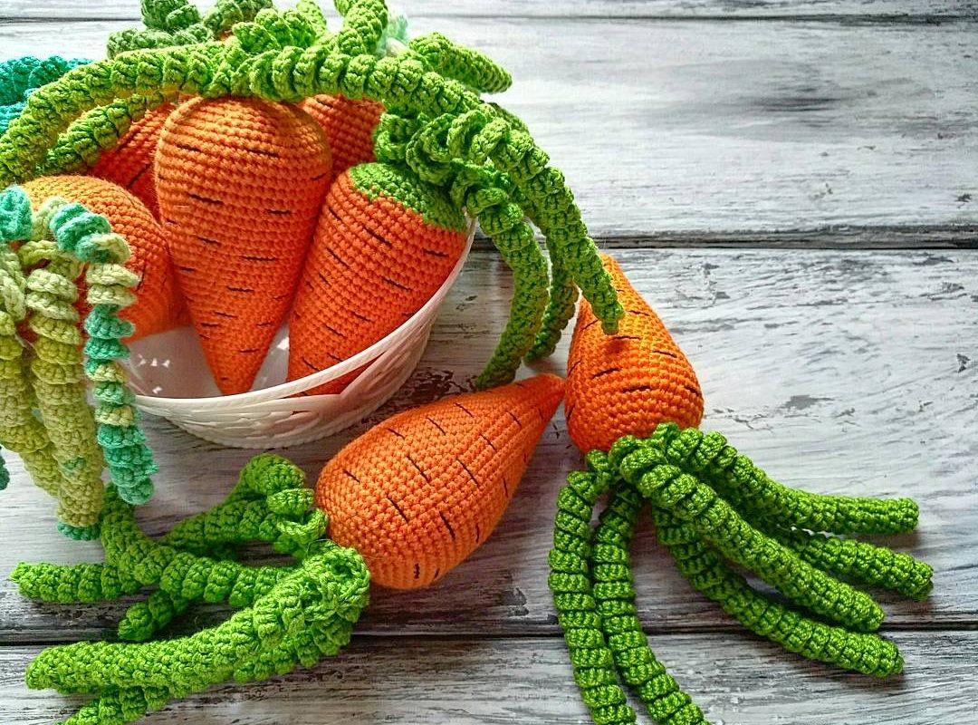Схема вязания моркови с описанием