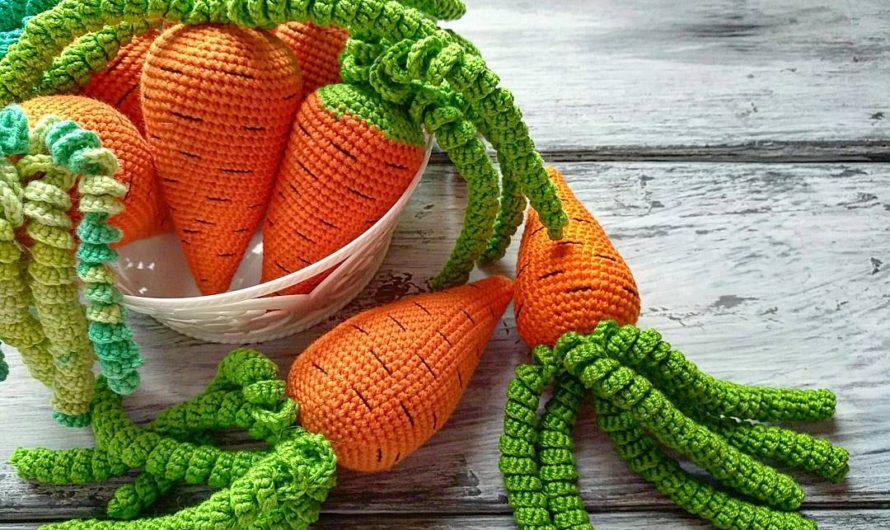 Вязаная крючком морковь