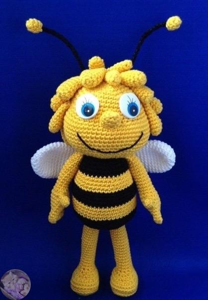 Пошаговая схема вязания пчелки майя с описанием