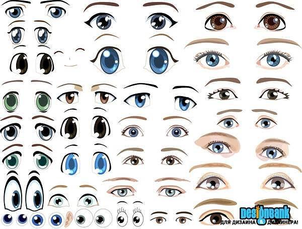 Шаблоны реалистичных глаз для кукол