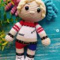 Вязаная кукла Харли Квин крючком с описанием схемы