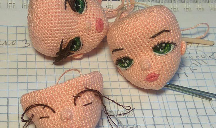 Идеи по созданию и оформлению лиц вязаных кукол