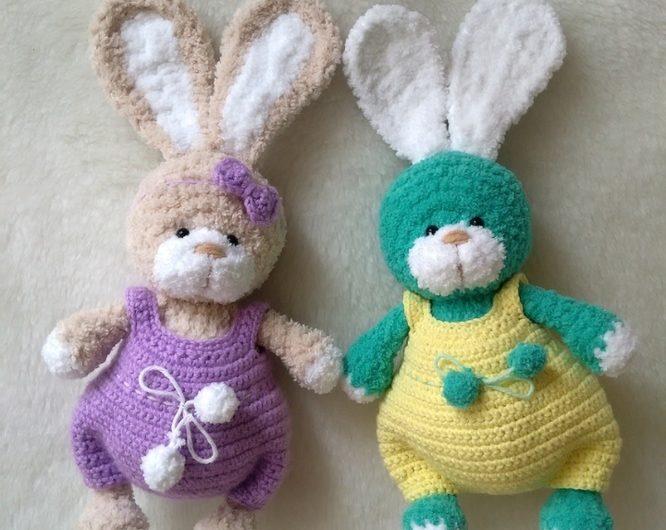 Амигуруми зайцы из Ализе софт