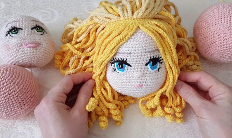 Как и из чего сделать волосы вязаной кукле