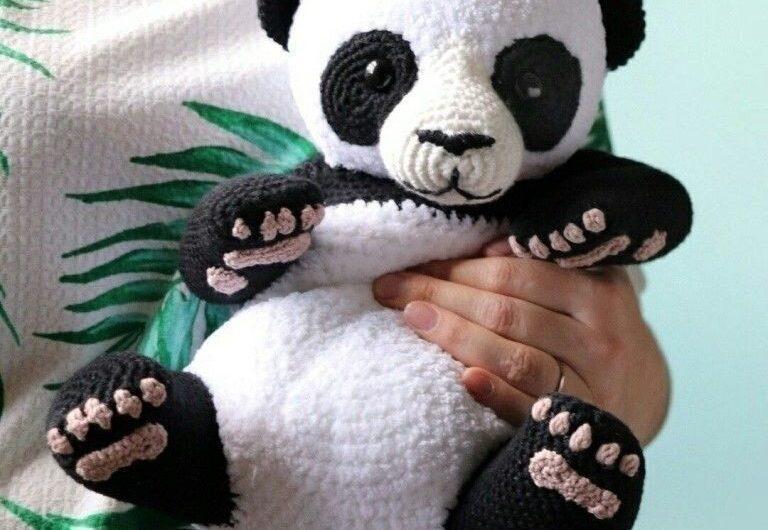 Амигуруми панда крючком