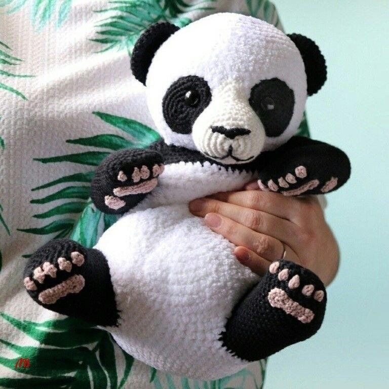 Легка схема вязания панды крючком