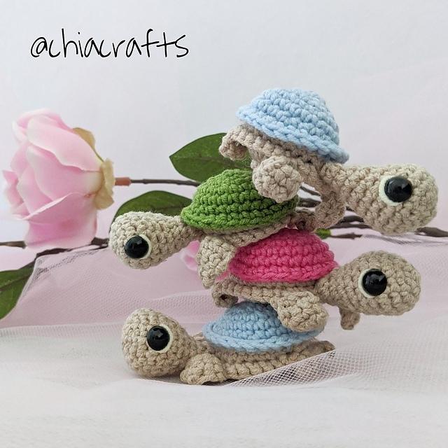 схема вязания черепахи крючком