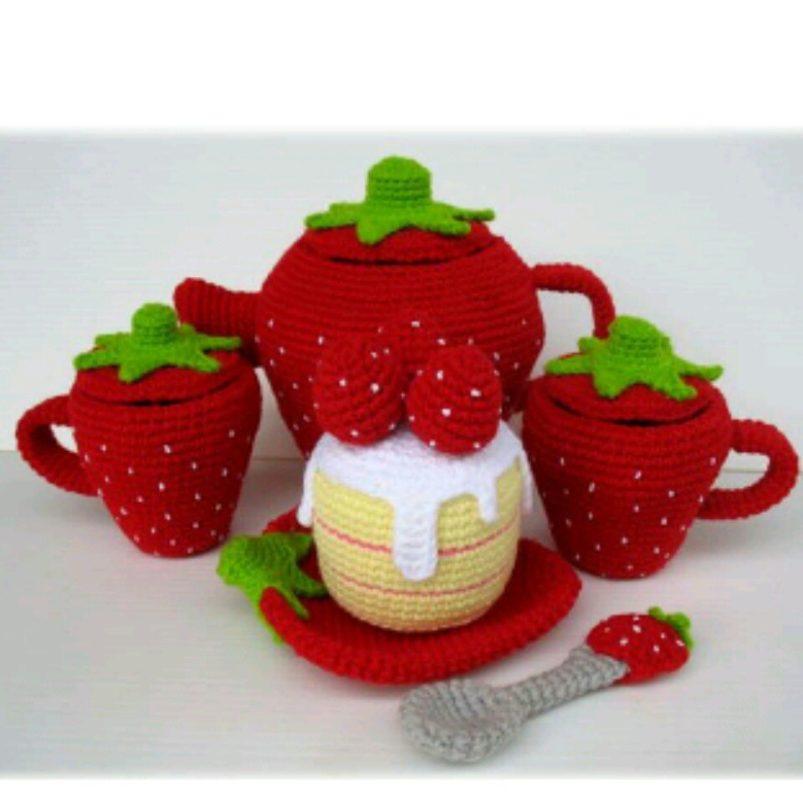 Бесплатная схема вязания чайного сервиза крючком