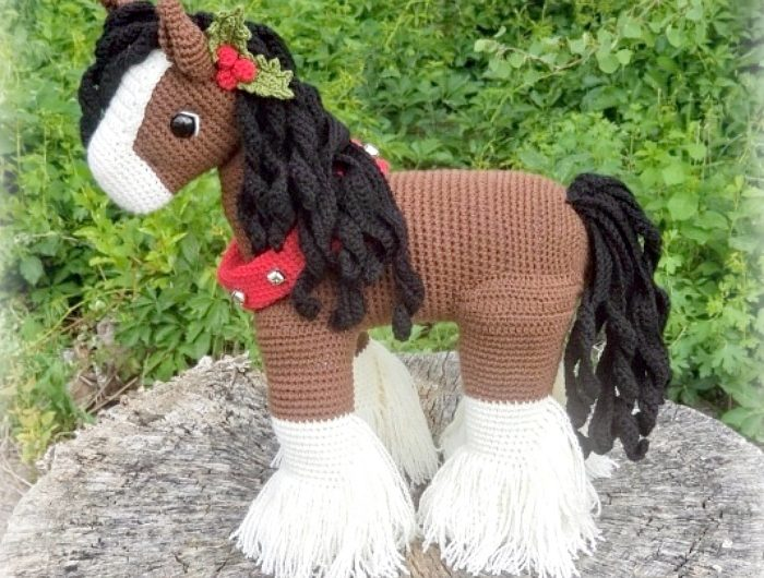 Схема вязания красивой лошади
