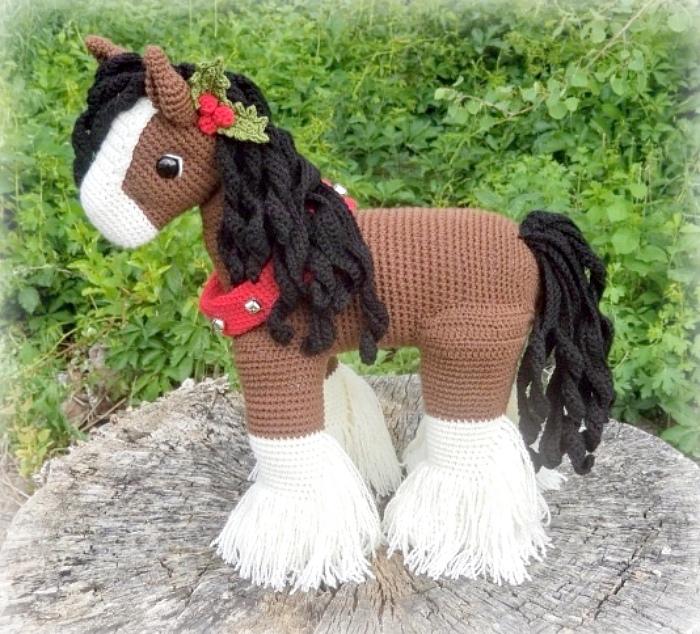 Красивая амигуруми лошадь крючком с пошаговым МК