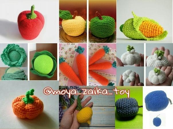 Схема вязания овощей и фруктов крючком: подборка МК по вязанию