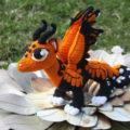 Амигуруми дракон с крыльями пошаговый МК повязанию крючком