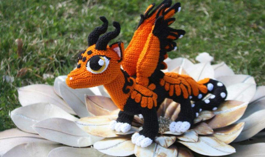 Схема вязания дракона с крыльями
