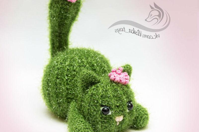 Кот кактус крючком с описанием