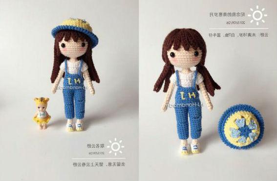 Маленькая кукла крючком: схема вязания с переводом