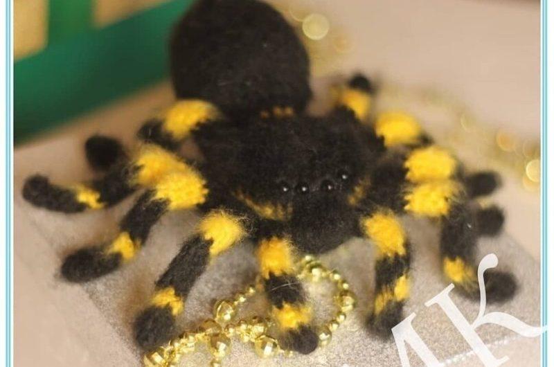 Схема вязания тарантула крючком