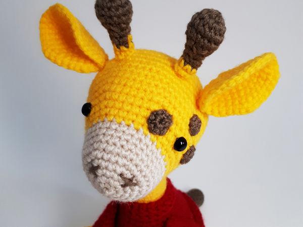 Амигуруми жираф в свитере крючком подробная схема вязания